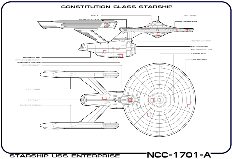 This Is My Re Creation Of The Paper Schematic Of The Enterprise Scotty Was  Studying During The Search For The Assassins Aboard The Ship That Killed  Gorkon ...