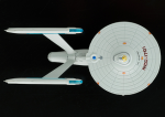 Another look at the bad paint detail of the model. This also shows the incorrect blue part of the front nacelle detail.