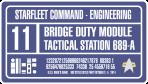 Bridge Tactical Station Label