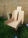 Captains chair frame