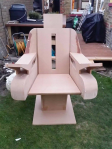Captains chair with arm controls